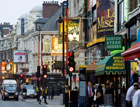 The West End. London theatre land.